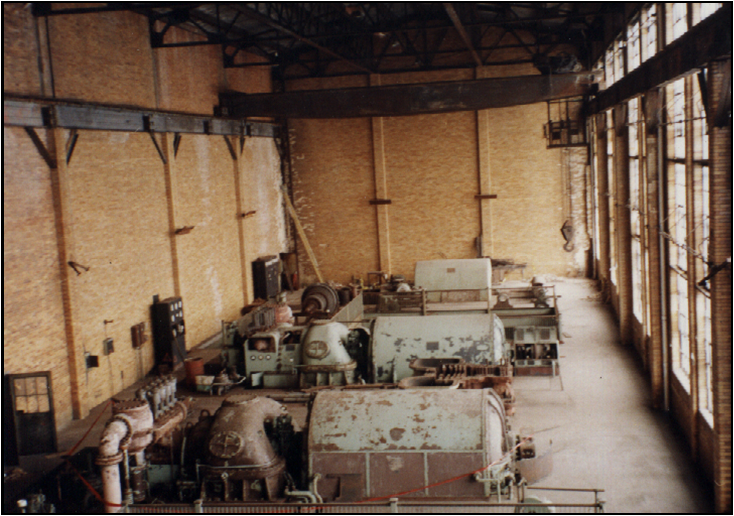 inside view of original 1908 power plant